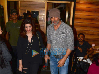 Akshay Kumar and Twinkle Khanna spotted at Farmers Café, Bandra