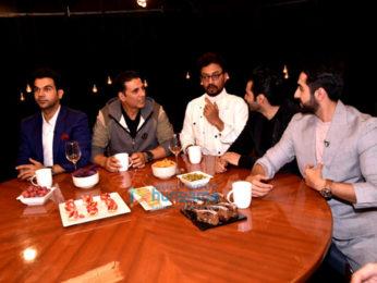 Akshay Kumar, Varun Dhawan, Ayushmann Khurranna and Rajkummar Rao snapped on sets of Rajeev Masand's show
