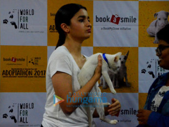 Alia Bhatt and Sophie Choudry spotted at pet adoption event