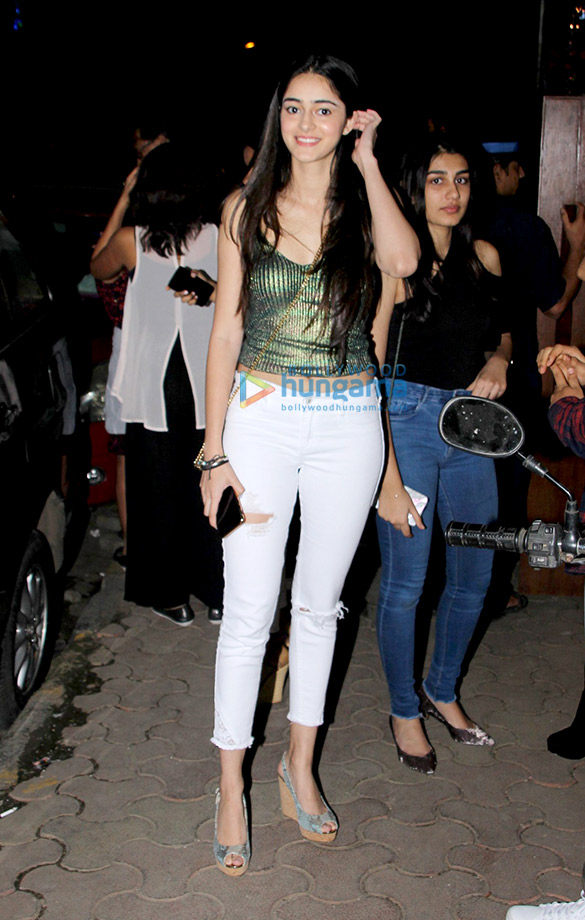 Ananya Panday spotted at Bandra