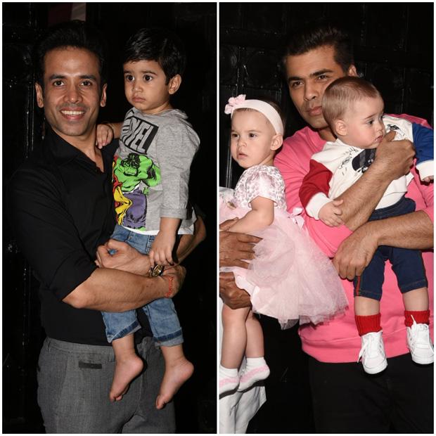 Check out Karan Johar's twins Yash and Roohi have a blast at Tusshar Kapoor's son Laksshya's Christmas party