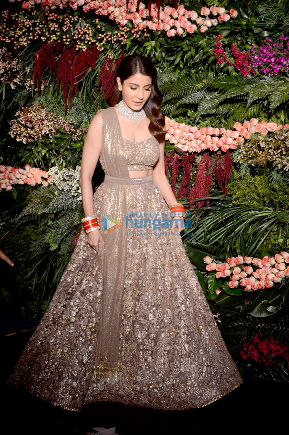 FIRST PHOTOS Virat Kohli and Anushka Sharma look so in love at their Mumbai reception (1)