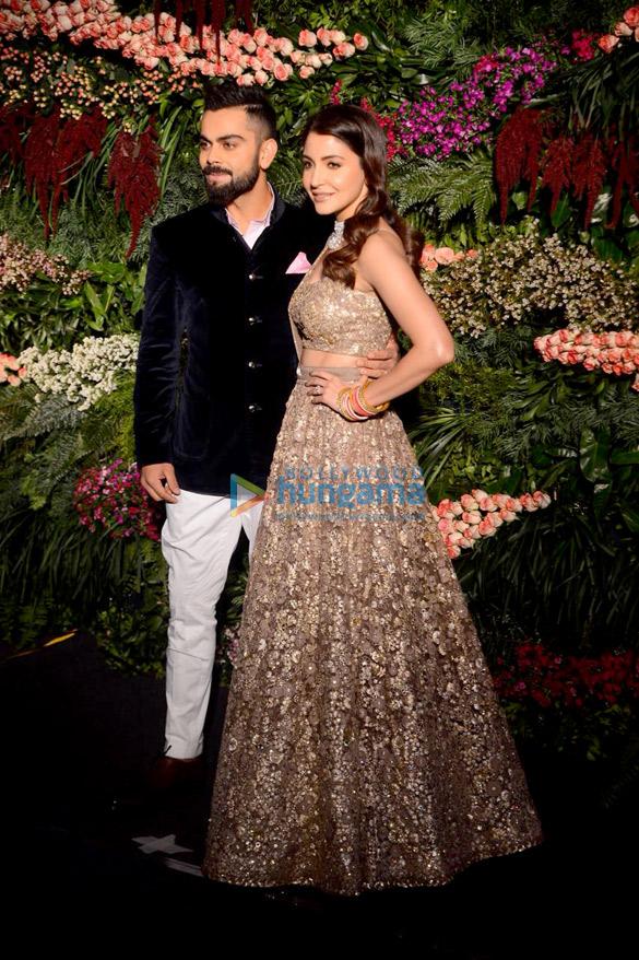 FIRST PHOTOS Virat Kohli and Anushka Sharma look so in love at their Mumbai reception (2)