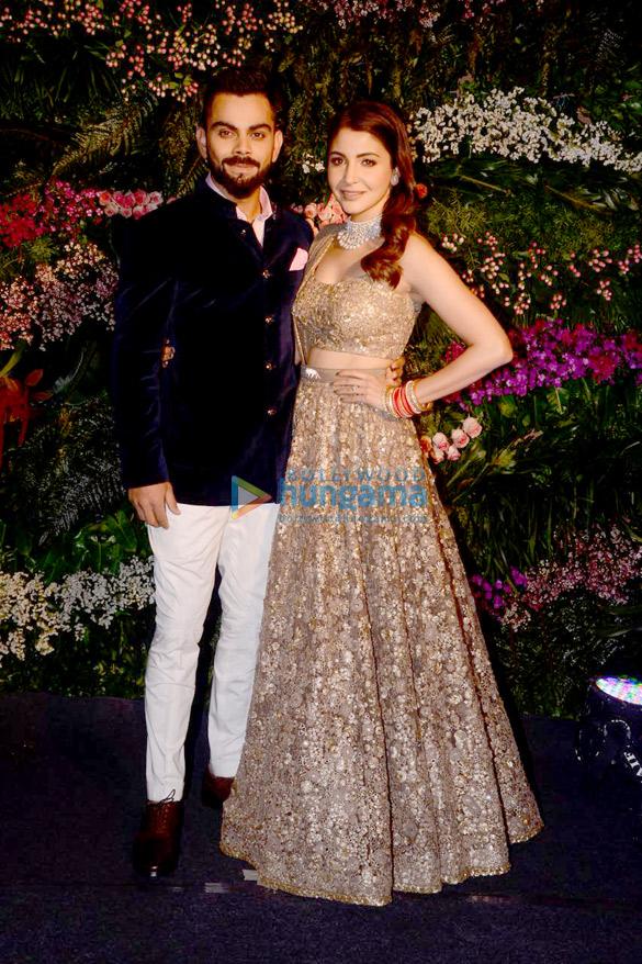 FIRST PHOTOS Virat Kohli and Anushka Sharma look so in love at their Mumbai reception (3)