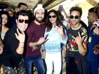 Fukrey Returns team snapped at Andheri metro station