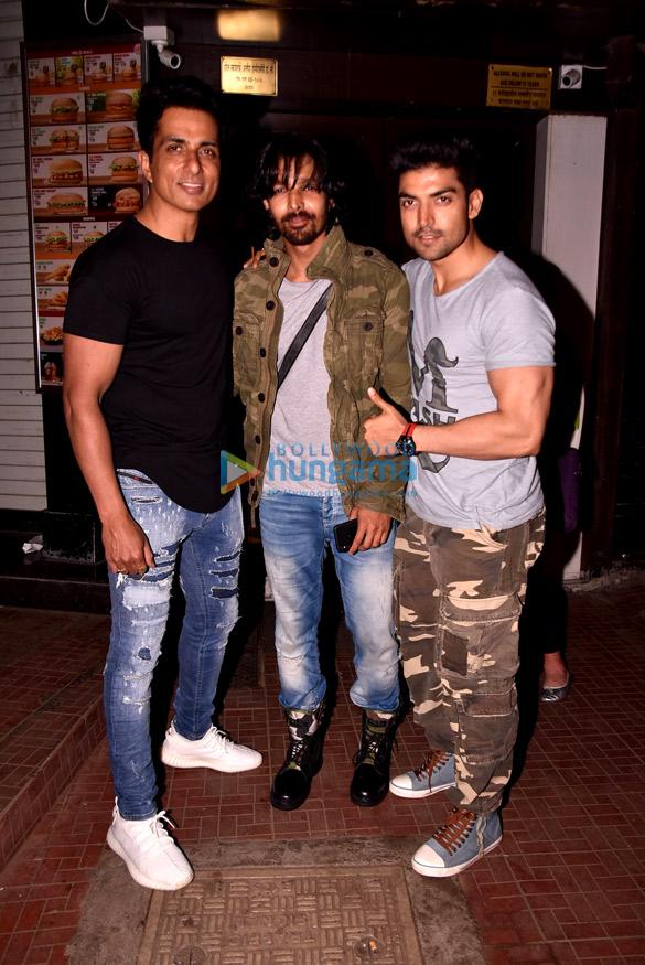 Gurmeet Choudhary, Sonu Sood and Sajid Khan at Harshvardhan Rane's birthday