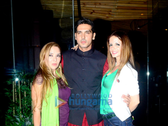 Hrithik Roshan and Sussanne Khan at Zayed Khan and Malaika Parekh's party