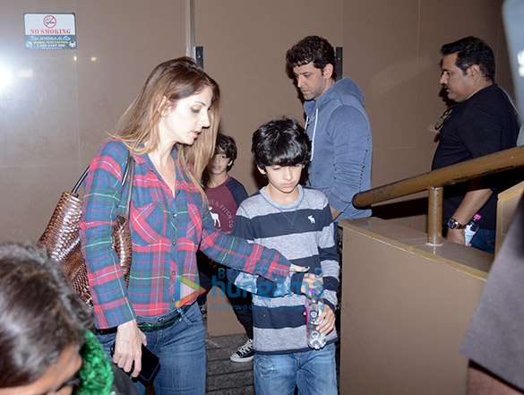 Hrithik Roshan spotted with his family at PVR Juhu