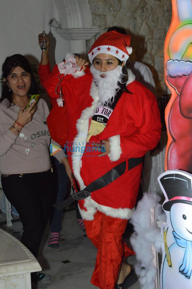INSIDE PHOTOS Ekta Kapoor becomes Santa Claus for Lakshya, Roohi and Yash