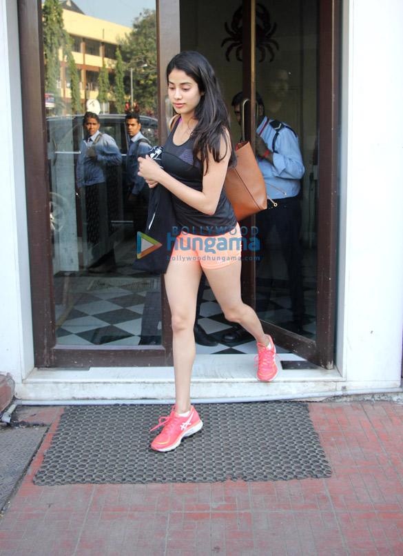 Janhvi Kapoor spotted at Bastian in Bandra