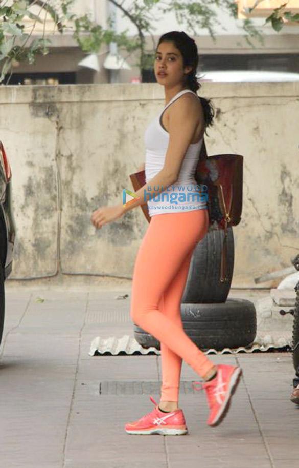 Janhvi Kapoor spotted outside her gym