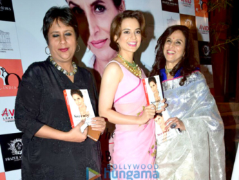 Kangana Ranaut graces the launch of Shobha De's book Seventy and to Hell With It