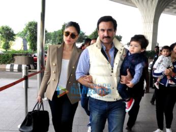 Kareena Kapoor Khan, Saif Ali Khan and Taimur spotted going to Delhi