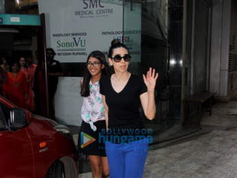 Karisma Kapoor snapped with her daughter