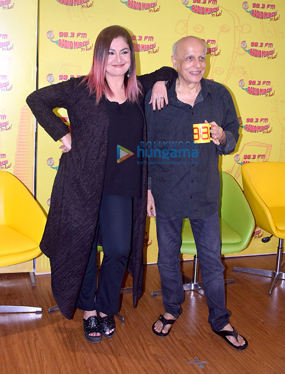 Mahesh Bhatt and Pooja Bhatt spotted recording for the show 'Bhatt Naturally'