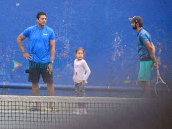 Mahesh Bhupathi snapped with daughter