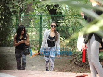 Malaika Arora spotted at dance class in Bandra