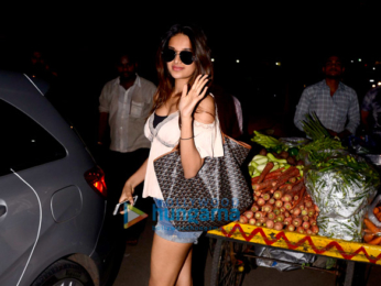 Nidhhi Agerwal snapped after salon session