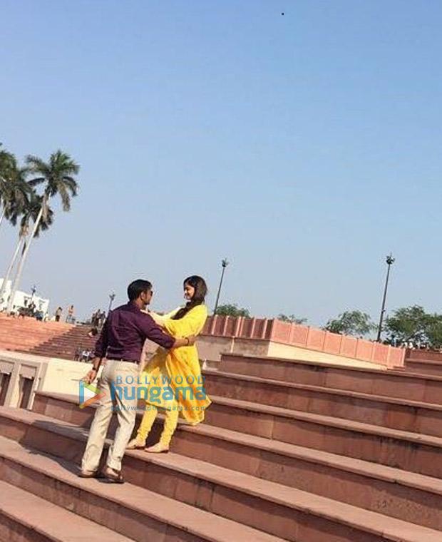 ON THE SET Ajay Devgn and Ileana D