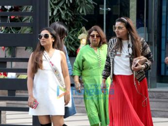 Rani Mukerji and Vaibhavi Merchant spotted at Yauatcha