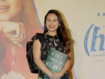 Rani Mukerji snapped at the trailer launch of her film Hichki
