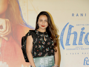 Rani Mukerji snapped at the trailer launch of her film Hichki