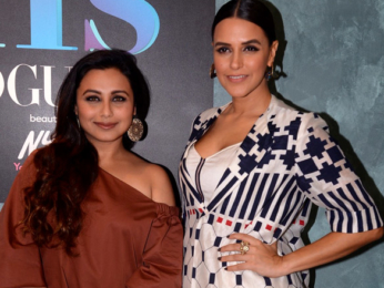 Rani Mukerji snapped on sets of Neha Dhupia's show 'BFFswithVogue'