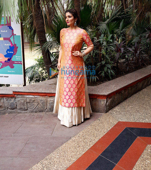Raveena Tandon looks stunning in a Warp n Weft ensemble for an NGO event in Delhi