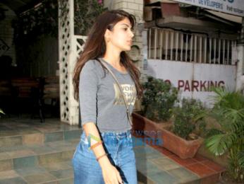 Rhea Chakraborty snapped at Smoke House Deli