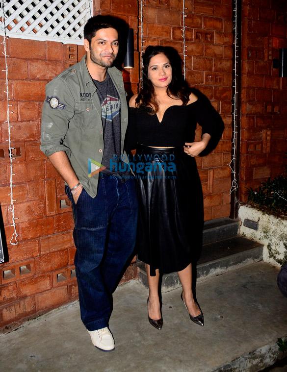 Richa Chadda and Ali Fazal snapped outside Harry's Bar and Cafe in Juhu
