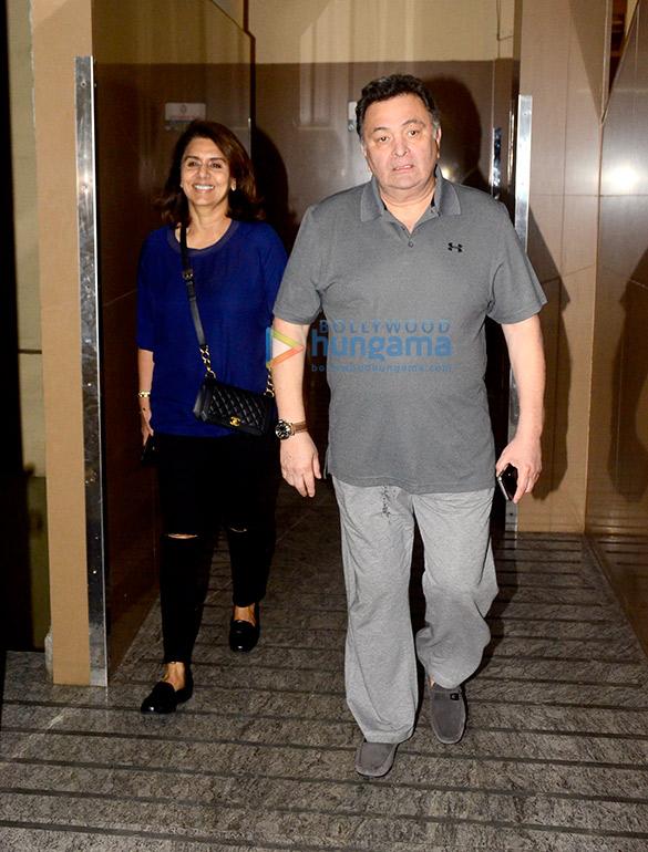 Rishi Kapoor and Neetu Singh snapped at PVR Juhu