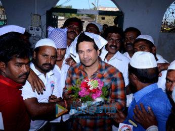 Sachin Tendulkar visits his adopted village Donja in Marathwada