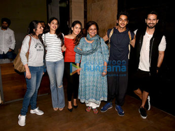 Shahid Kapoor, Mira Rajput, Janhvi Kapoor and others at Ishaan Khatter's Beyond The Clouds screening