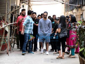 Shahid Kapoor snapped at a salon