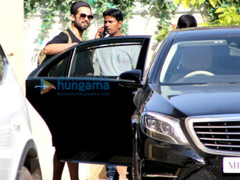 Shahid Kapoor snapped at the gym
