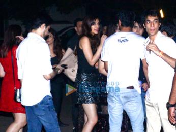 Sushant Singh Rajput, and Kriti Sanon snapped at Nupur Sanon's birthday bash