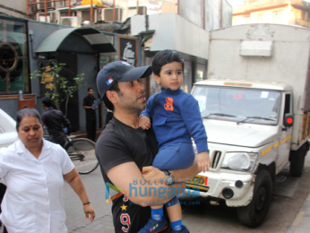 Tusshar Kapoor snapped with his son