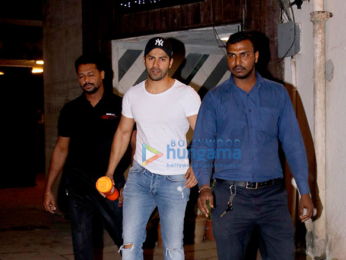 Varun Dhawan and Kartik Aaryan snapped at the gym