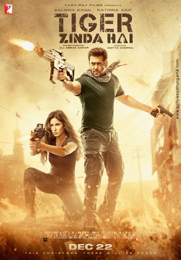 WOW! Salman Khan and Katrina Kaif hunt to kill in the third poster of Tiger Zinda Hai