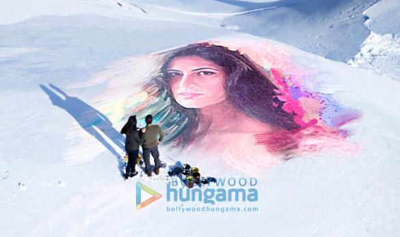 WOW! Salman Khan draws a portrait of Katrina Kaif on a frozen lake for Tiger's love song