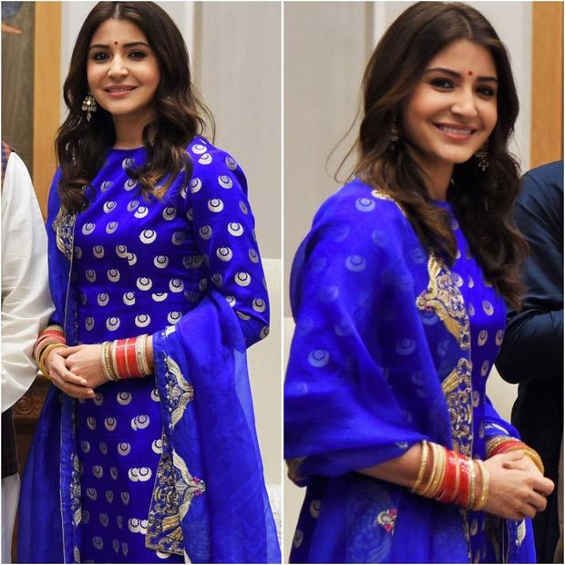 Wowza! Anushka Sharma, the down-right gorgeous December bride glows in a resplendent electric blue ensemble! (2)