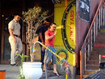 Aamir Khan spotted after a salon session in Bandra