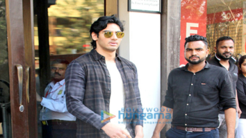 Ahan Shetty spotted at Baistan
