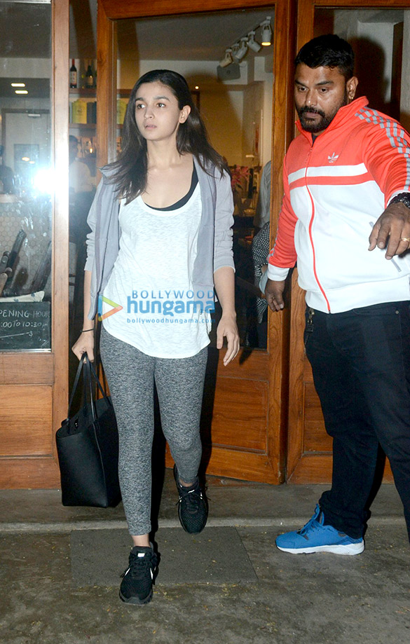Alia Bhatt snapped at Sequel Cafe in Bandra