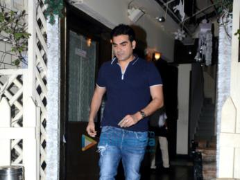 Arbaaz Khan snapped with friends at Smoke House Bandra