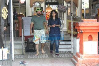 Bakhtiyaar Irani and his wife Tanaz Irani at Shiv Shankar Ganesh Mandir, Juhu