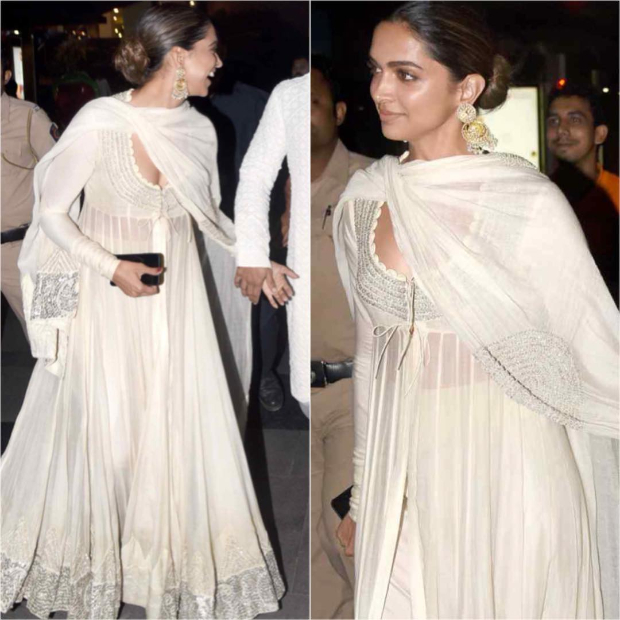 Deepika Padukone in Anamika Khanna at Padmaavat screeningA