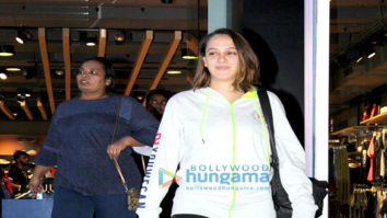 Hazel Keech snapped at the Puma store in Khar