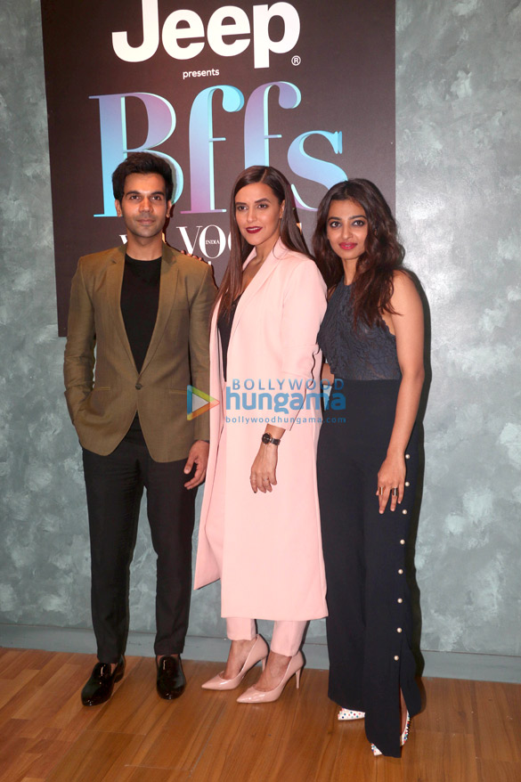 Rajkummar Rao, Radhika Apte, Neha Dhupia snapped on Vogue BFFs set