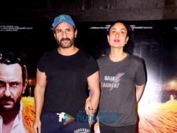 Saif Ali Khan, Kareena Kapoor Khan, Soha Ali Khan and Kunal Khemu grace the screening of Kaalakaandi